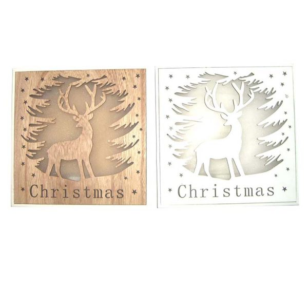 Christmas design wood crafts wall hanger for home decoration