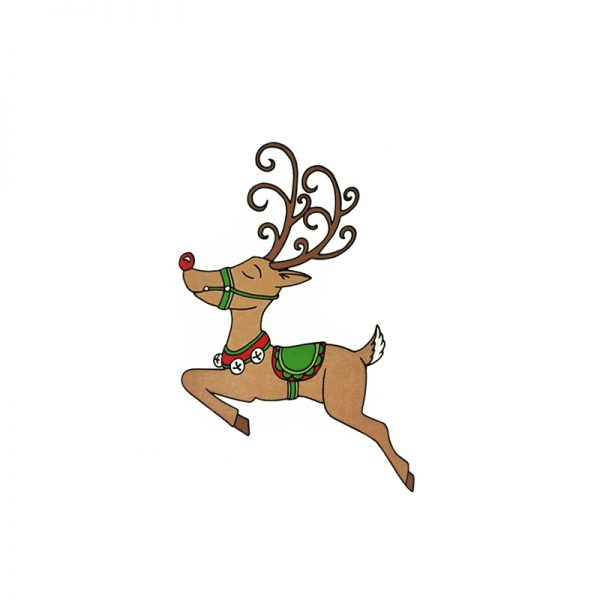 Christmas milu deer design cutting dies for DIY