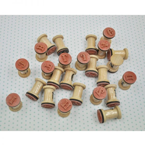 Cylinder wood stamp and DIY crafts rubber stamp