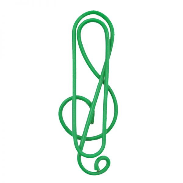 Green note design paperclip DIY crafts supplies