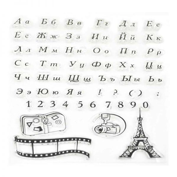 French alphabets and Eiffel tower shape craft clear stamp