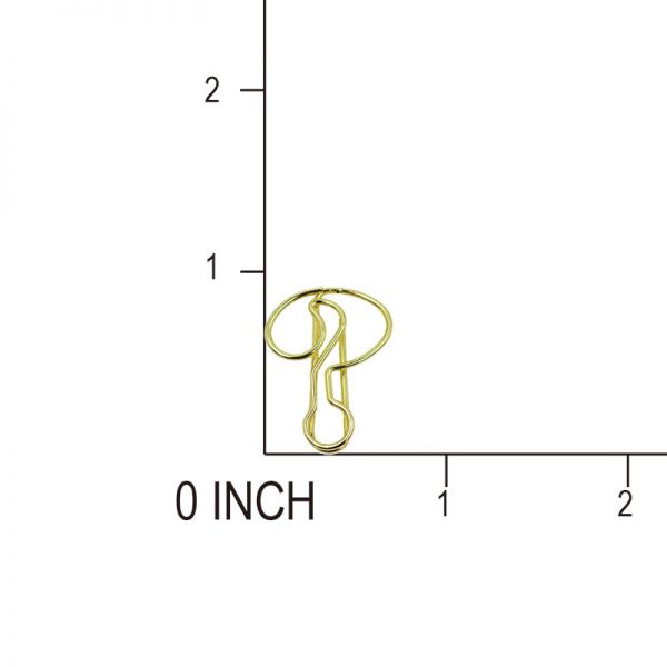 Golden note shape design paperclip for hobby