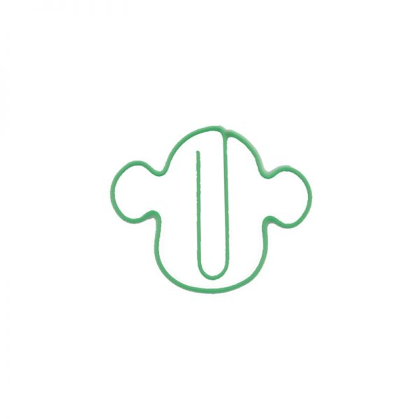Green monkey face design paperclips wholesales