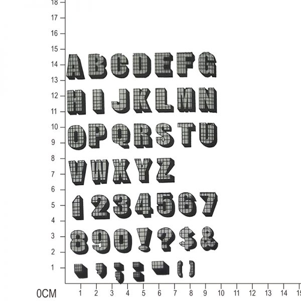 High quality alphabets clear stamp for scrapbooking