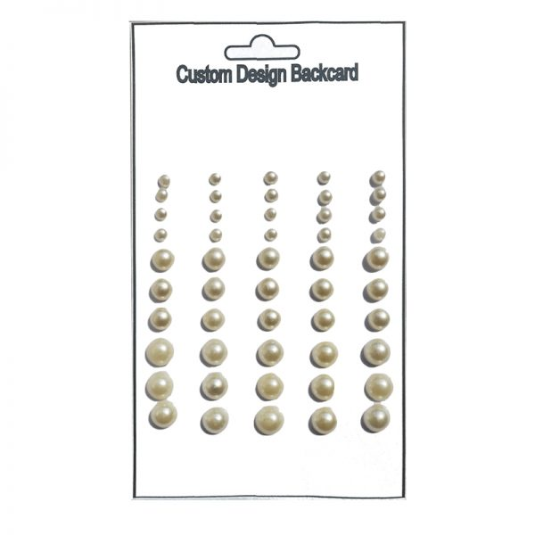 White color pearl sticker handmade for supplies