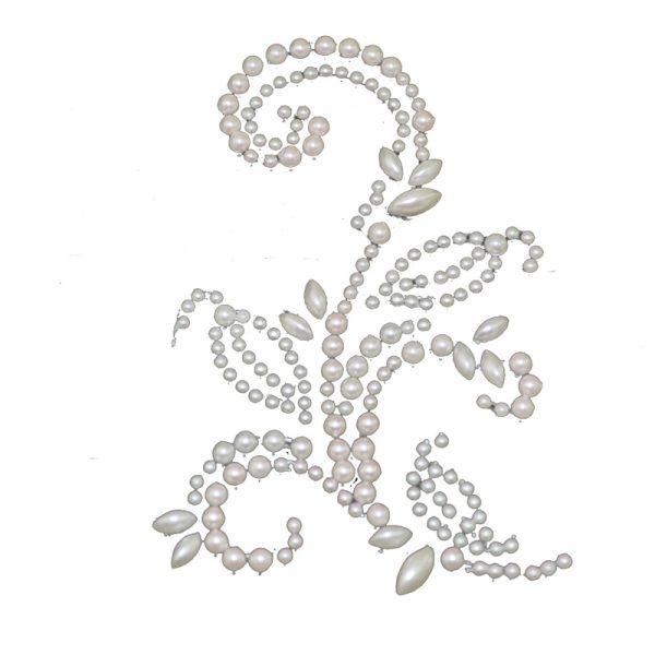 White flower shape pearl sticker for decoration