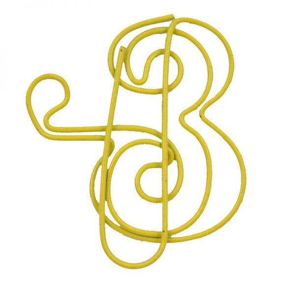 Yellow music box design paperclips and crafts clips