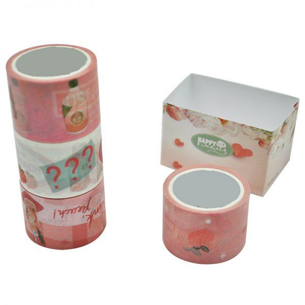 big size pin peach design washi tape for DIY hobby