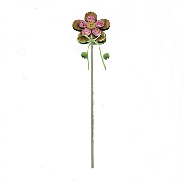 2 assorted flower shape sticks for home decoration