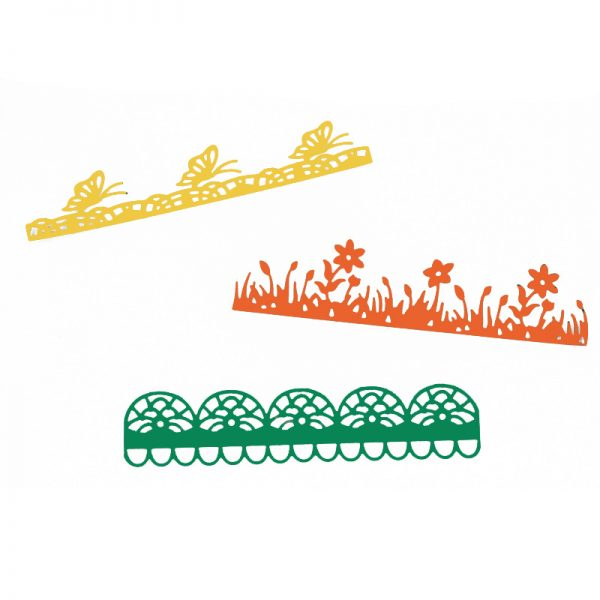3pcs butterfly and flower cutting dies for scrapbooking