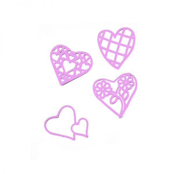 4pcs heart shape cutting dies for metal scrapbooking