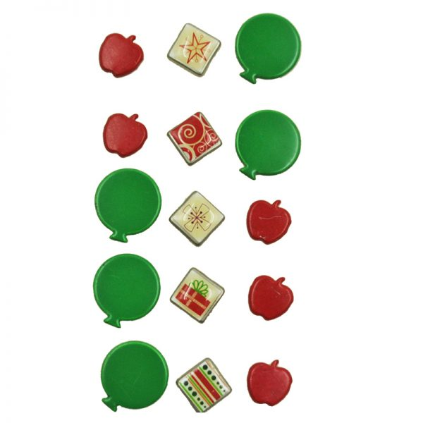 Apple and ballon shape brads for wholesale