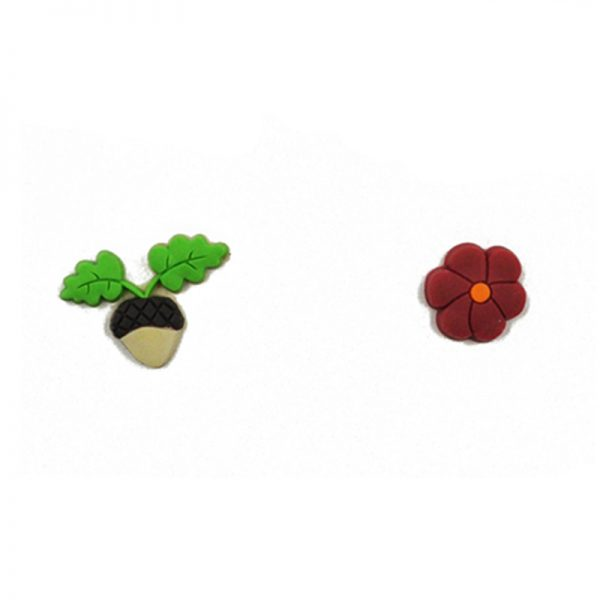 Autumn theme rubber brads for scrapbooking