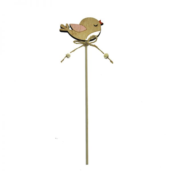 Bird shape easter wood craft decoration sticks for home decoration