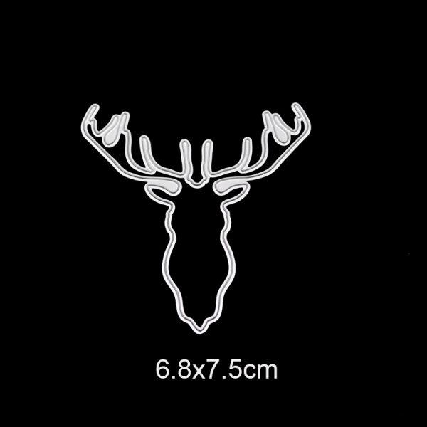 Black garlands and reindeyr theme cutting dies
