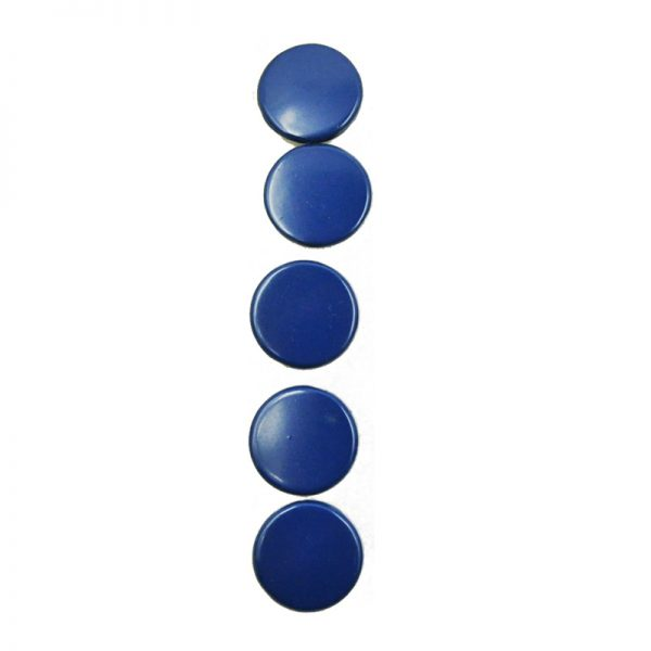 Blue color theme round shape painted brads