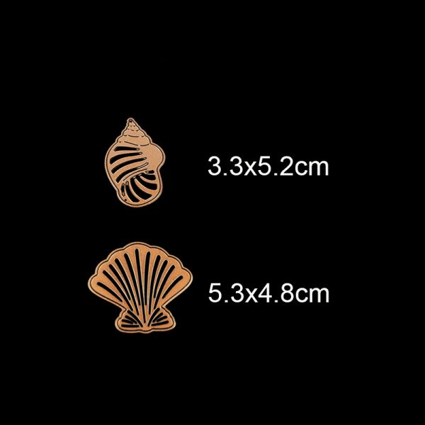 Brown conch 7pcs mixed cutting dies for DIY decoration