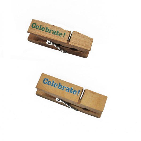 Celebrate colorful design wooden clip for decoration