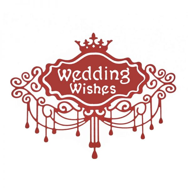 Wedding theme cutting dies for craft hobby