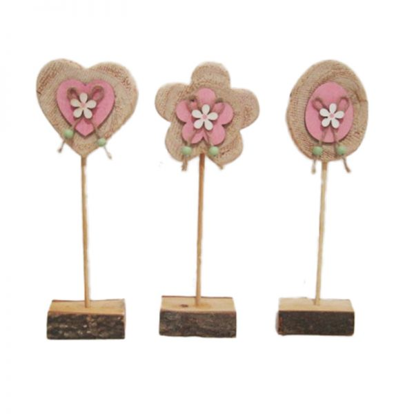 Easter decoration pinewood craft stander