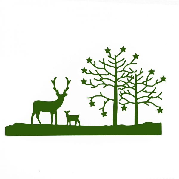 Fawn and tree design die cutting dies for scrapbooking