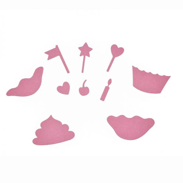Star and heart mixed shape die cutting dies for DIY