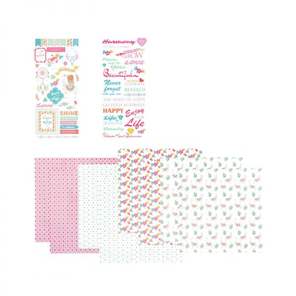 120GSM craft paper pattern with sticker for hobby craft