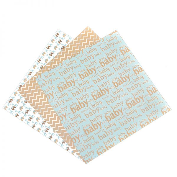 Baby theme craft pattern paper double side print for hobby craft